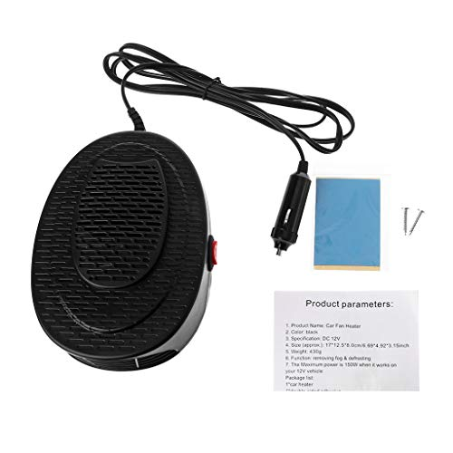 (Forgun 12V Car Heater-150W Car Glass Defroster Window Heater for Winter Auto Air Outlet 2 Warm Dryer)