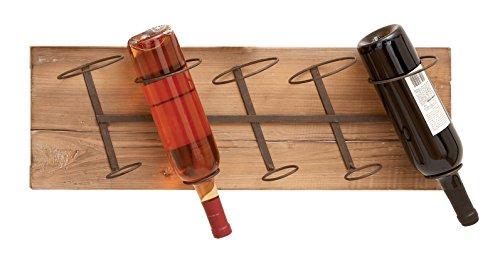 Deco 79 Wall Wood Metal Wine Rack, 26 by 8-Inch (Wood Wall Rack Natural)