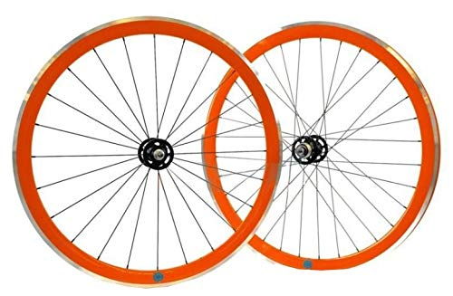 Ambrosio Wheelset Scattofisso 28 - Zoll - Aluminium - Felgenbremse 24-32G Orange