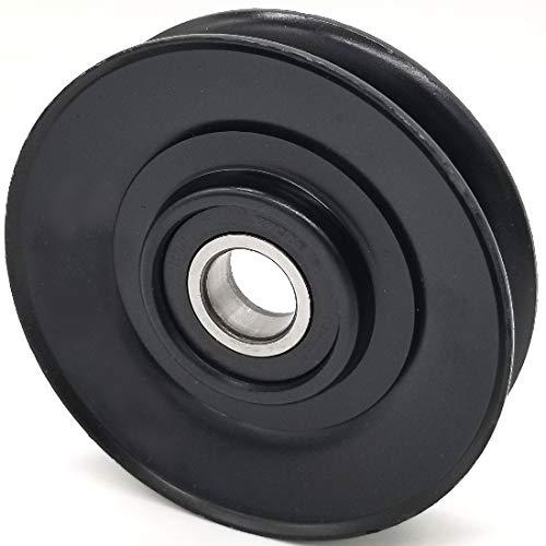 3.68 Diameter Phoenix Mfg 17mm Bore V-Groove Idler Pulley Steel