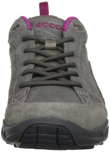 Ecco Sierra LS 851014 - Zapatillas de deporte de cuero nobuck para mujer Gris (Grau (Moon Rock/Moon Rock/Fuchsia 57793))