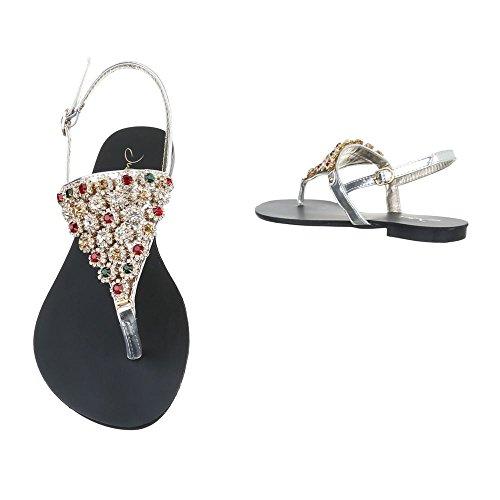 Ital-Design - Zapatos con tacón Mujer plata