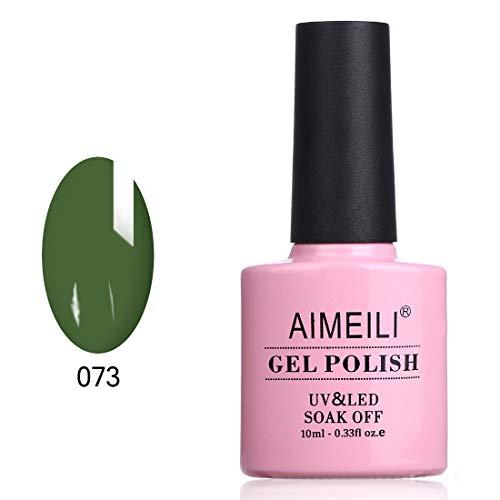 AIMEILI Soak Off UV LED Gel Nail Polish - Kale (073) 10ml