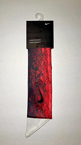 Black / White / Red Custom Nike Dri-Fit Head Tie 2.0 Headband White Swoosh Active Multi Sport Tennis Basketball Yoga Jordan 1 2 3 4 5 6 7 8 9 10 11 12 14 30 31 Cement