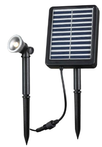 Kenroy Home 60501 Seriously Solar Outdoor 1.0 Watt LED Solar Spotlight Kit (Marker Address Solar)