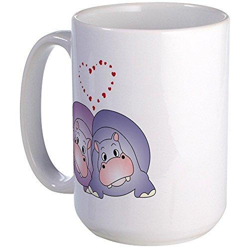 Love Hippos (CafePress - Hippo Love Large Mug - Coffee Mug, Large 15 oz. White Coffee Cup)