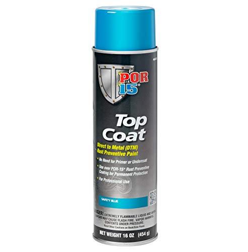 POR-15 46418 Top Coat Safety Blue Spray Paint, 16. Fluid_Ounces