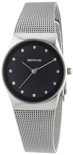 BERING Time 12927-002 Women's Classic Collection Watch with Mesh Band and scratch resistant sapphire crystal. Designed in Denmark.
