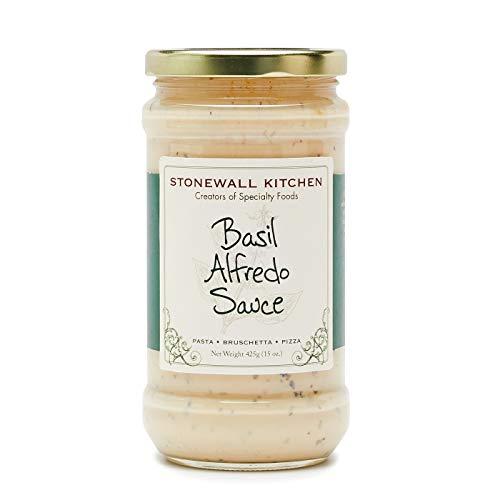 - Stonewall Kitchen Basil Alfredo Pasta Sauce, 15 Ounce