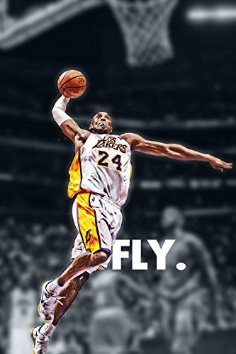 Kobe Bryant Slam Dunk L.A. Lakers Basketball Poster Art Print 21
