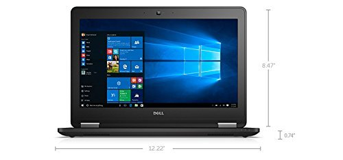 Dell Latitude E7270 12.5 Inch Business Ultrabook Intel Core 6th Generation i7-6600U 8GB DDR4 256GB Solid State Drive Webcam WiFi+BT Windows 10 Professional by Dell