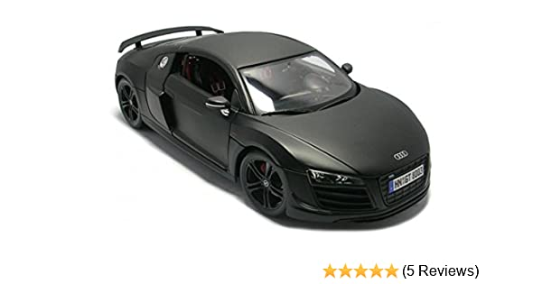 Amazoncom Maisto Audi R GT Matt Black Car Model Toys Games - Audi r8 black