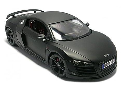 Amazon Com Maisto Audi R8 Gt Matt Black 1 18 Car Model Toys Games