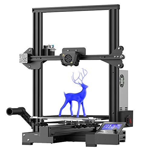 Official Creality Ender 3 Max FDM three-D Printer with Silent Mainboard Meanwell Power Supply Carborundum Glass Platform Large Print Size 300 x 300 x 340mm