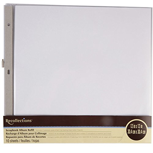 12x12 Scrapbook Album Refill - Recollections Scrapbook Album Refill Pages (12 x 12)