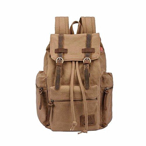 Homlove Vintage Backpack Camping Leather
