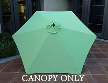 9ft Umbrella Replacement Canopy 6 Ribs In Lime (Canopy Only)