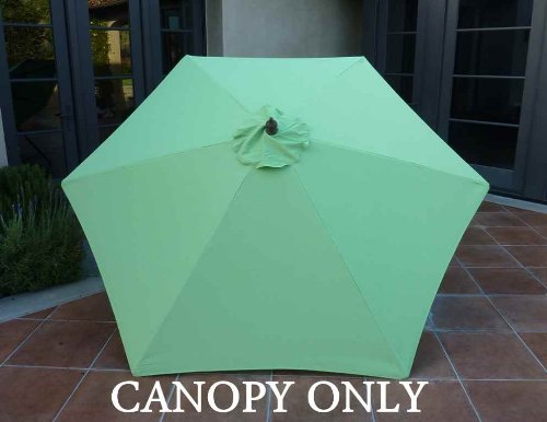Formosa 9ft Umbrella Replacement Canopy 6 Ribs in Lime (C...