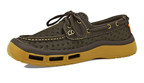 - SoftScience Men's The Fin 2.0 Boat Shoes, Brown Mesh, 9 M US