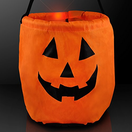 Pumpkin Light Up LED Trick-Or-Treat Bag for