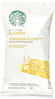 Starbucks SBK11020676 Premium Blonde Roast Ground Coffee, 2.5lb (Pack of 18) from Starbucks Corporation