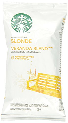 Starbucks SBK11020676 Premium Blonde Roast Ground Coffee, 2.5lb (Pack of 18)