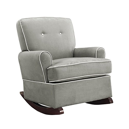 Baby Relax Tinsley Nursery Rocker Chair, Gray Nursery Rocker