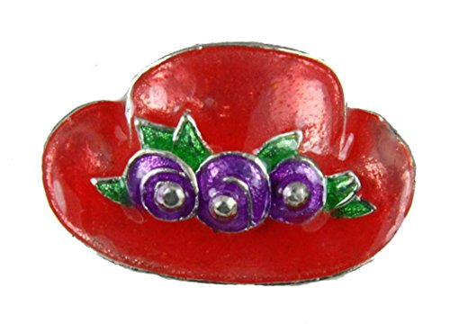 Red Hat Society 6030016 Ladies Club Pin Brooche Clothes Clothing Redhat Red Hatter (Red Hat Lady Brooch Pin)