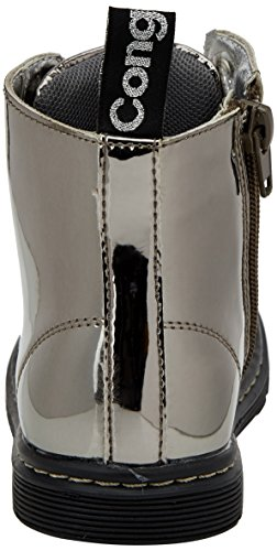 Conguitos Mädchen Hi129802 Plissierte Stiefel Versilbert (Silber)