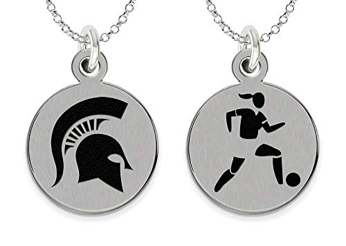 College Jewelry Michigan State University Spartans Womens Soccer Charm Necklace by College Jewelry