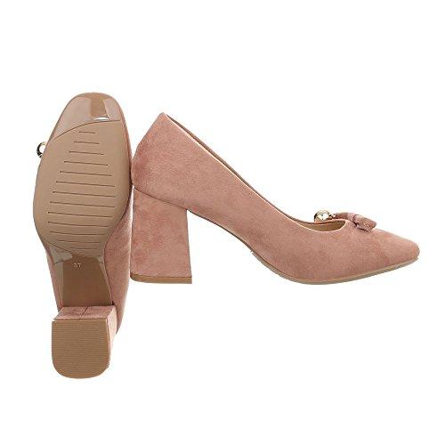 Ital-Design High Heel Pumps Damenschuhe High Heel Pumps Pump High Heels Pumps Altrosa GAQ-22