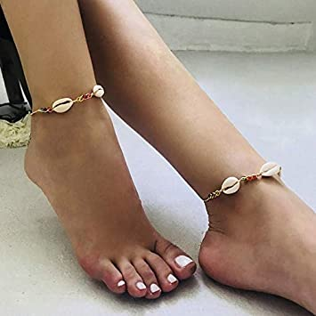 Women Ankle Bracelet Colorful Anklet Foot Chain Boho Beach Shell Beads Jewelry