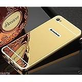 CLASSICO Luxury Aluminium Bumper Plus Mirror Acrylic Back Cover For Lenovo Vibe K5 Plus(GOLD)