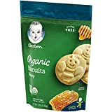 Gerber Organic Gluten Free Biscuits, Honey, 6 Count