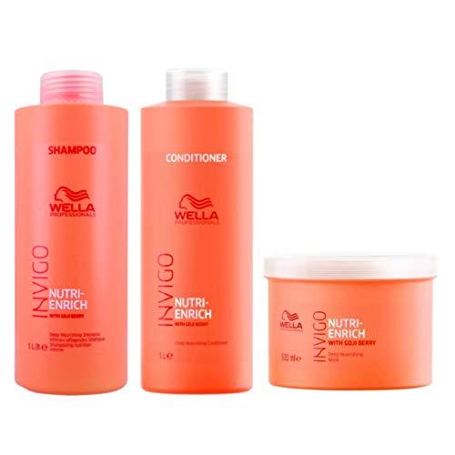 Kit Shampoo Condicionador E Mascara Wella Nutri Enrich Invigo