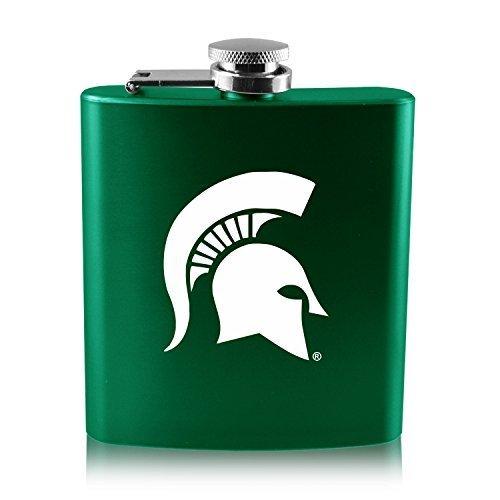 2019高い素材  ミシガン州状態university-6オンスカラーステンレススチールflask-green B0188J24US B0188J24US, 錦鯉のカネヒコ:2c6eaf08 --- senas.4x4.lt