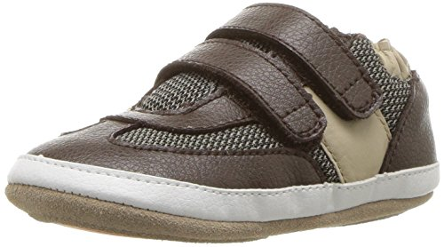 Robeez Boys' Sneaker-Mini Shoez Crib Shoe, Active Alex-Brown, 3-6 Months M US Infant