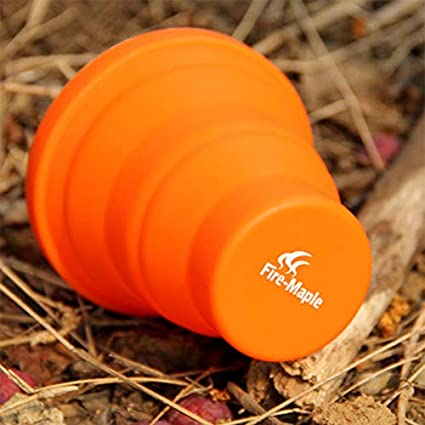 HURA Outdoor Tablewares - Fire Maple 200ml Silicon Mug Outdoor Folding Telescopic Folding Cups Camping Cooking