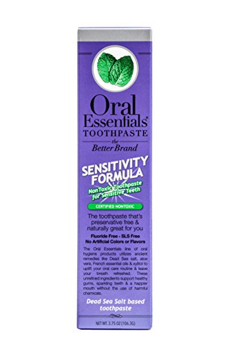 Oral Essentials Sensitive Teeth Toothpaste Dentist Formulated/Clinically Tested/Non-Toxic