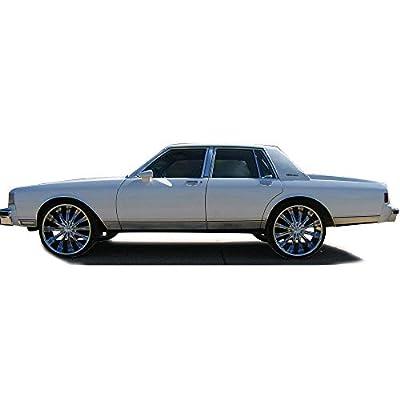 For Chevrolet Caprice/Impala 1986 1987 1988 1989 1990 Rear Bumper Quarter Panel Fillers Kit ABS Plastic- Primed: Automotive