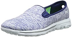 Skechers Performance Women's Go Walk Vivid Slip-On Walking Shoe, Blue/White, 10 M US