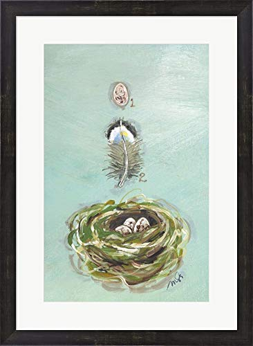 - Chickadee by Molly Susan Strong Framed Art Print Wall Picture, Espresso Brown Frame, 20 x 27 inches