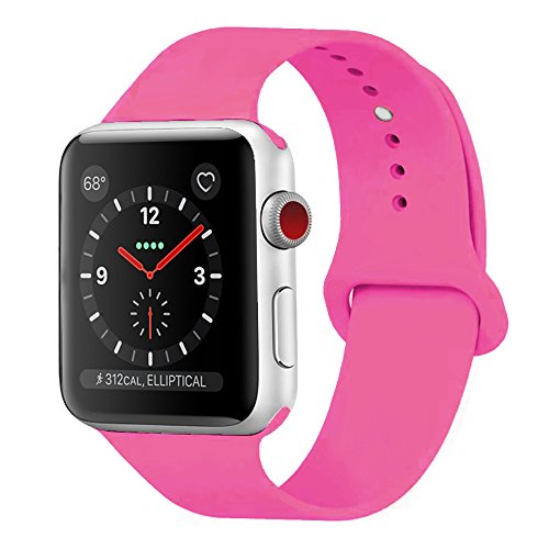SICCIDEN For Apple Watch Band 42mm 38mm, Soft Silicone iWatch Band Replacement Strap for Apple Watch Series 3 2 1 Sport Nike+ Edition – DiZiSports Store