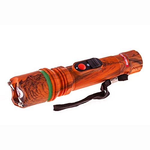 Terminator Stun Gun With Flashlight - 940,,000,000 - Mini Rechargeable Cheap Reliable Stun Gun With LED Flashlight (Orange)