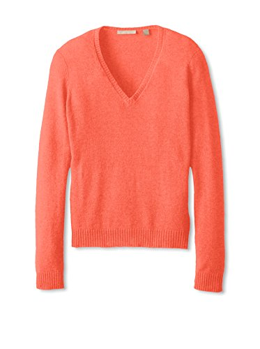 Cashmere Addiction Womens Long Sleeve V-Neck Sweater
