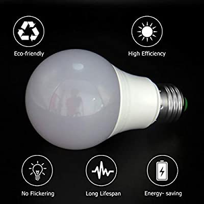 12V Low Voltage LED Light Bulbs,E27 Edison Standard Screw Base lamp 3W DC12-24V/AC12V 35W Equivalent Halogen Bulb for Off-Grid Solar System Lighting,RV,Solar Panel Project,Boat,Garden Landscape-Pack 3