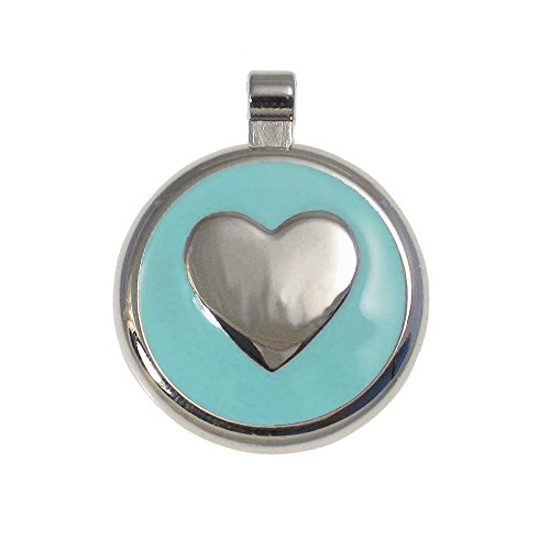 LuckyPet Heart Jewelry Pet ID Tag for Cats and Dogs, Personalized Engraving on The Back Side, Small Mint Heart