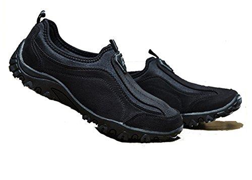 LFEU Homme Chaussure Basket Outdoor Pour Jogging Course Pied Large Sport Fitness Sneakers sans Lacets Antidérapant 39-46 Noir WHYOtJy