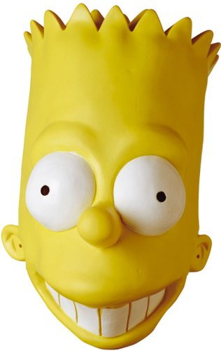 BART AD VINYL OVERSIZED MASK (The Simpsons Adult Bart Mask)