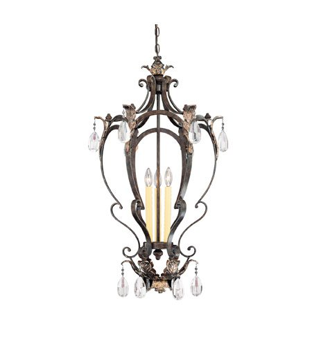 Ceiling House Savoy Foyers Pendant - Savoy House 3-4056-3-124 Hensley Foyer Fiesta Bronze 3 - C Bulbs